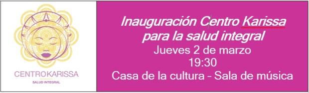 Invitación inauguración Centro Karissa